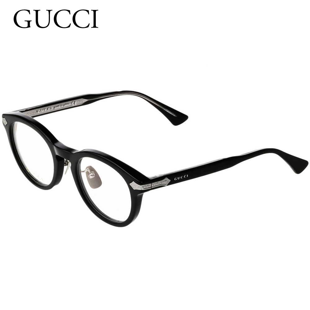 グッチ GUCCI メンズ メガネフレーム 【INTERNATIONAL FIT】 GG0071O ブラック(001 TRANSPARENT CLEAR/BLACK) 【rsz】【sef】【zkk】