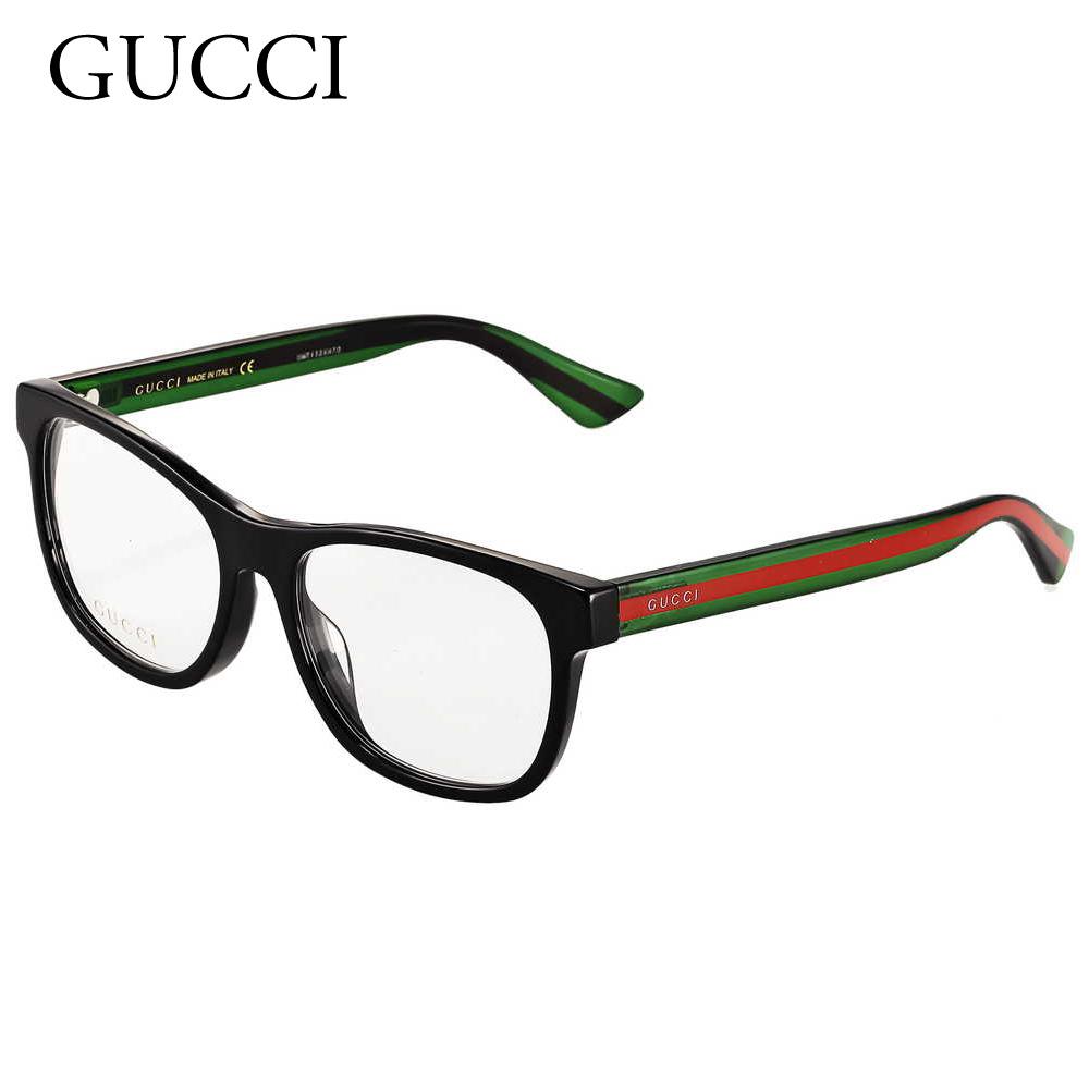 グッチ メンズ メガネフレーム 【ASIANFIT】 GG0004OA ブラック(002 BLACK/GREEN) GUCCI 【sef】【zkk】