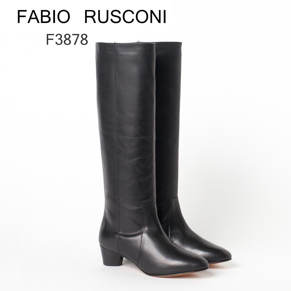 ファビオ ルスコーニ ロングブーツ FABIO RUSCONI F3878 RNBO ブラック