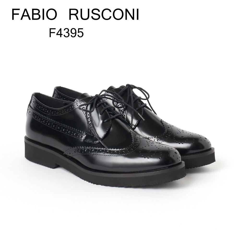 ファビオ ルスコーニ レースアップシューズ FABIO RUSCONI F4395 RLLO ブラック