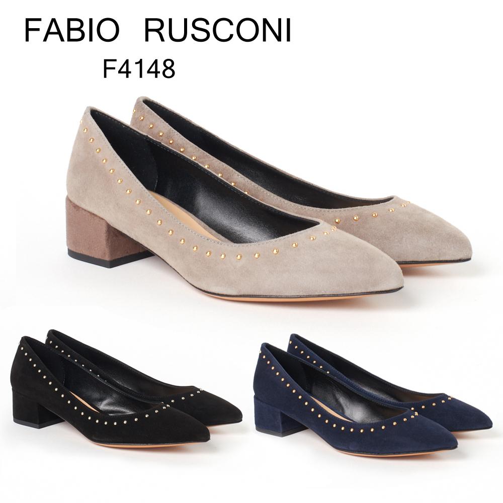 ファビオルスコーニ パンプス FABIO RUSCONI F4148 PLPU スエード選べるカラー 【fll】