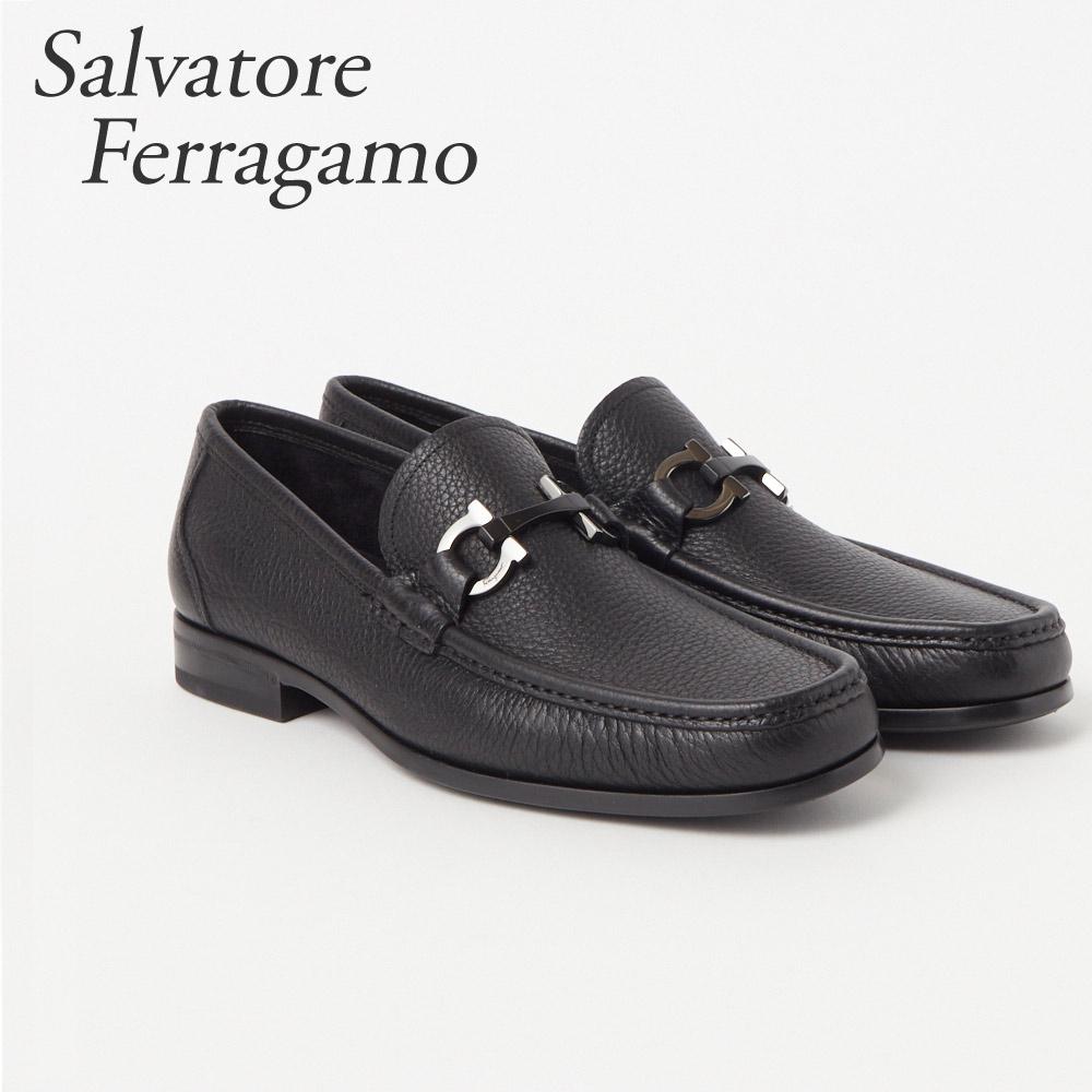 フェラガモ FERRAGAMO 靴 メンズ ビジネスシューズ GRANDIOSO 0642848 MUFLONE SOFT NERO 【fsm】【flm】