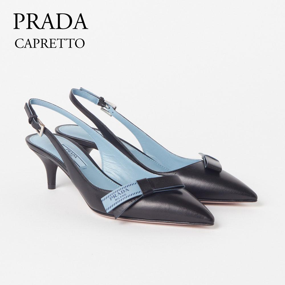プラダ レディスシューズ パンプス PRADA 【CAPRETTO】 NERO 1I375I 011 F0002