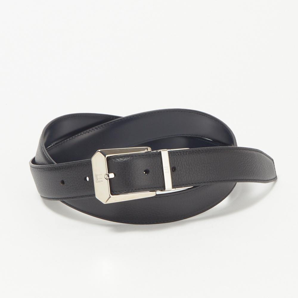 ダンヒル DUNHILL メンズ ベルト 18F4T10GR001 リバーシブル ブラック/ネイビー系