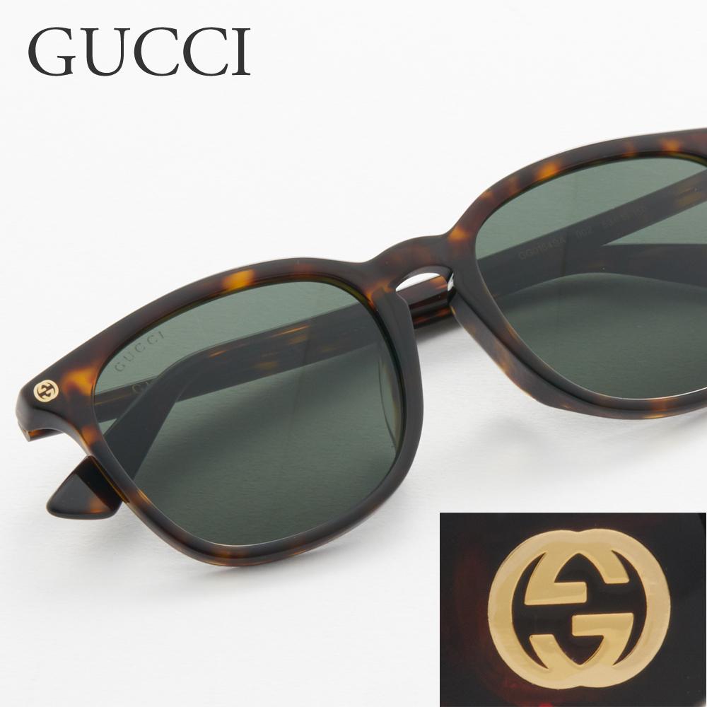 グッチ GUCCI サングラス レディース メンズ 0154/SA 002 53 ブラウン系