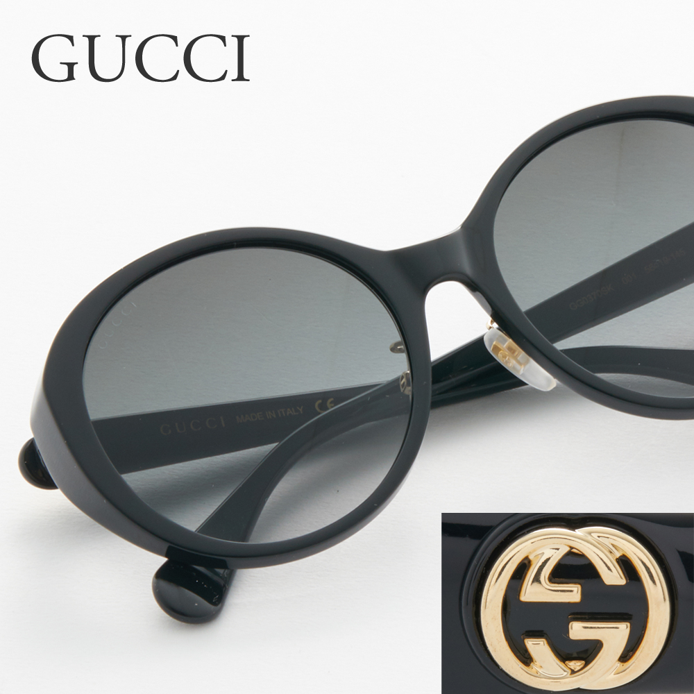 グッチ GUCCI サングラス レディース メンズ 0370/SK 001 56 ブラック系