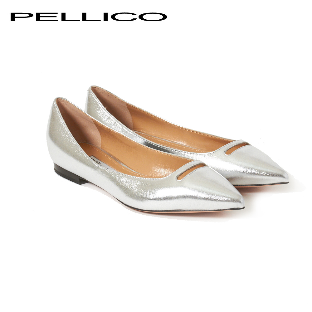 ペリーコ パンプス PELLICO 2115 ANDREA 10 ARGENTO(シルバー) 【fll】