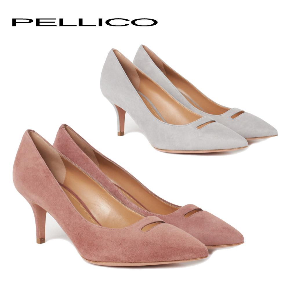 ペリーコ パンプス PELLICO 2143 ANDREA 65 SC スウェード選べるカラー 【fll】