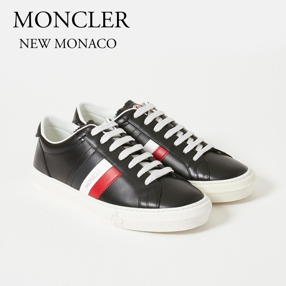 モンクレール MONCLER スニーカー NEW MONACO 1037601A9A 999 ブラック 【shm】