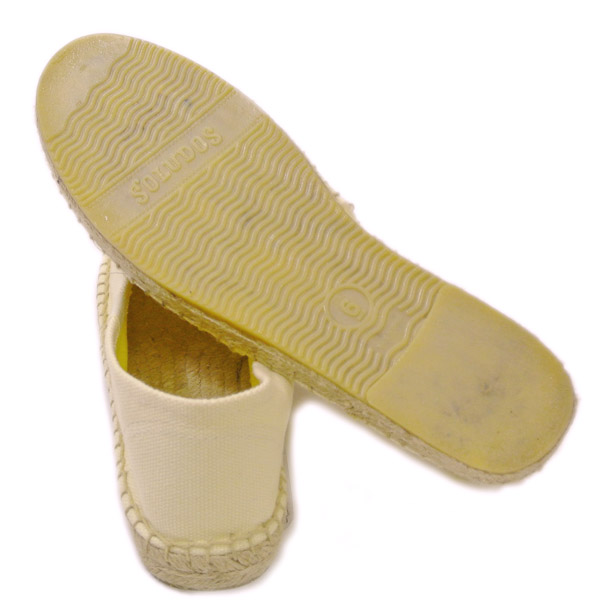 孤獨 (固體) 高坡婦女鞋屋 SOLUDOS 原大理為 022 燕麥粥燕麥 Babouche 拖鞋