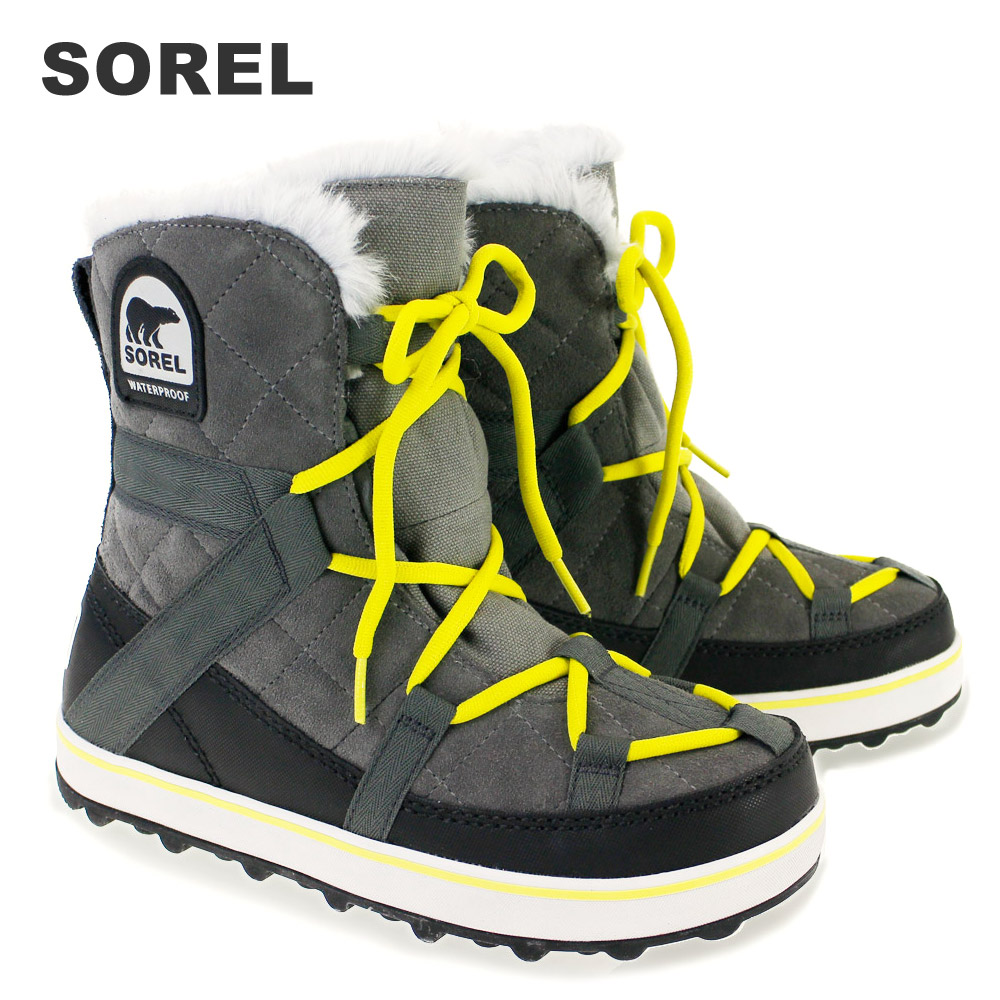 ソレル ブーツ SOREL NL2079 GLACY EXPLORER QUARRY グレー 【グレイシー】