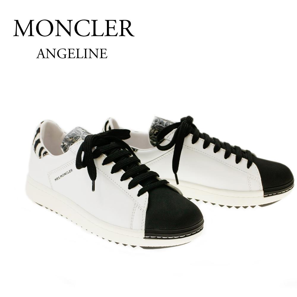 モンクレール スニーカー MONCLER ANGELINE 2021400 01924 998 WHITE/BLACK