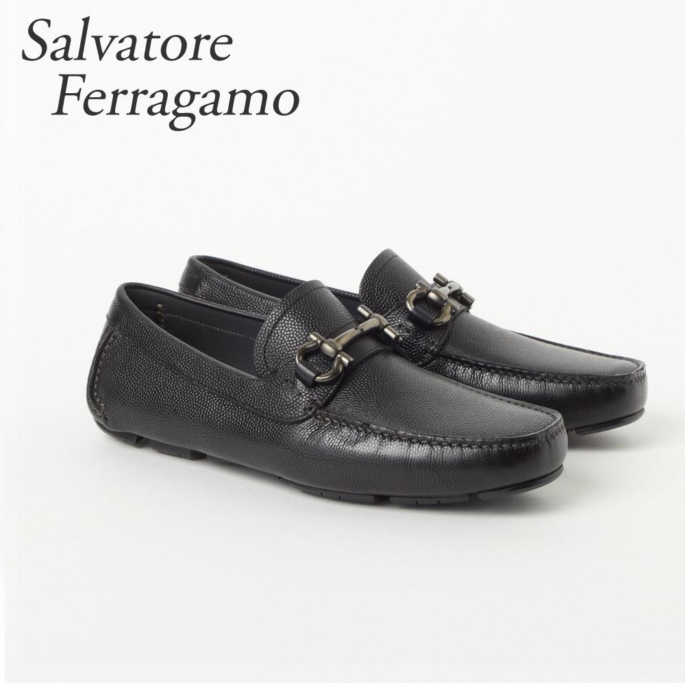 フェラガモ FERRAGAMO 靴 ビジネスシューズ ビットローファー メンズ ドライビング PARIGI 024728 0671739 NERO 【fsm】