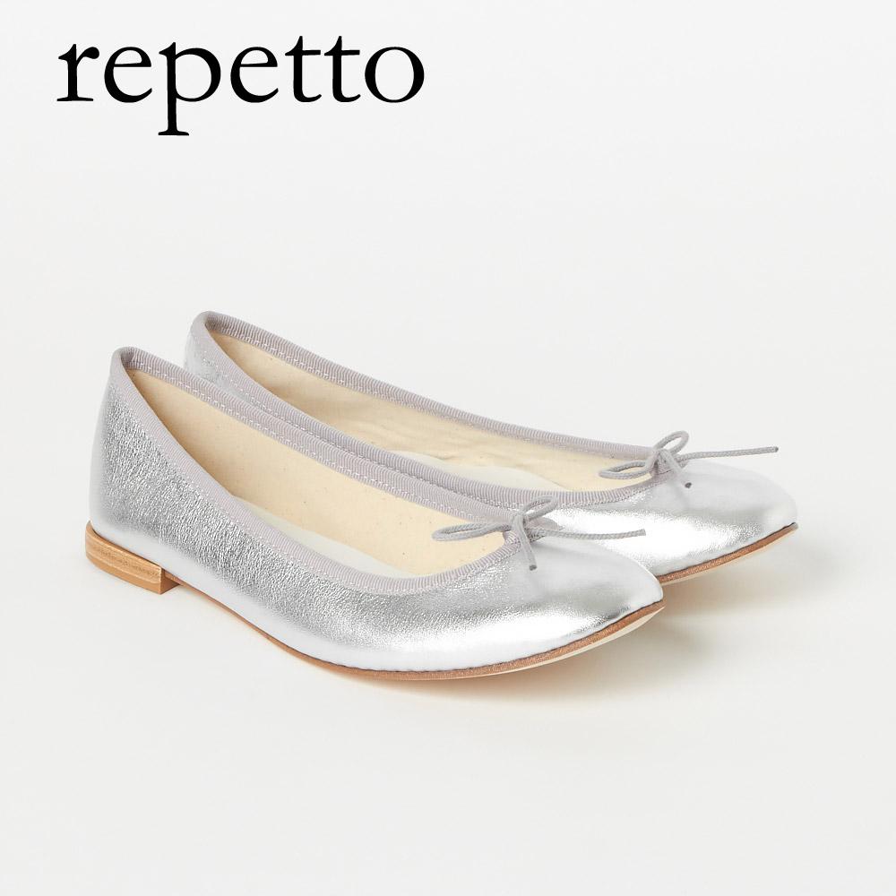 レペット REPETTO パンプス バレエシューズ BB ベベ V086AM 【Metallic calfskin】 SILVER
