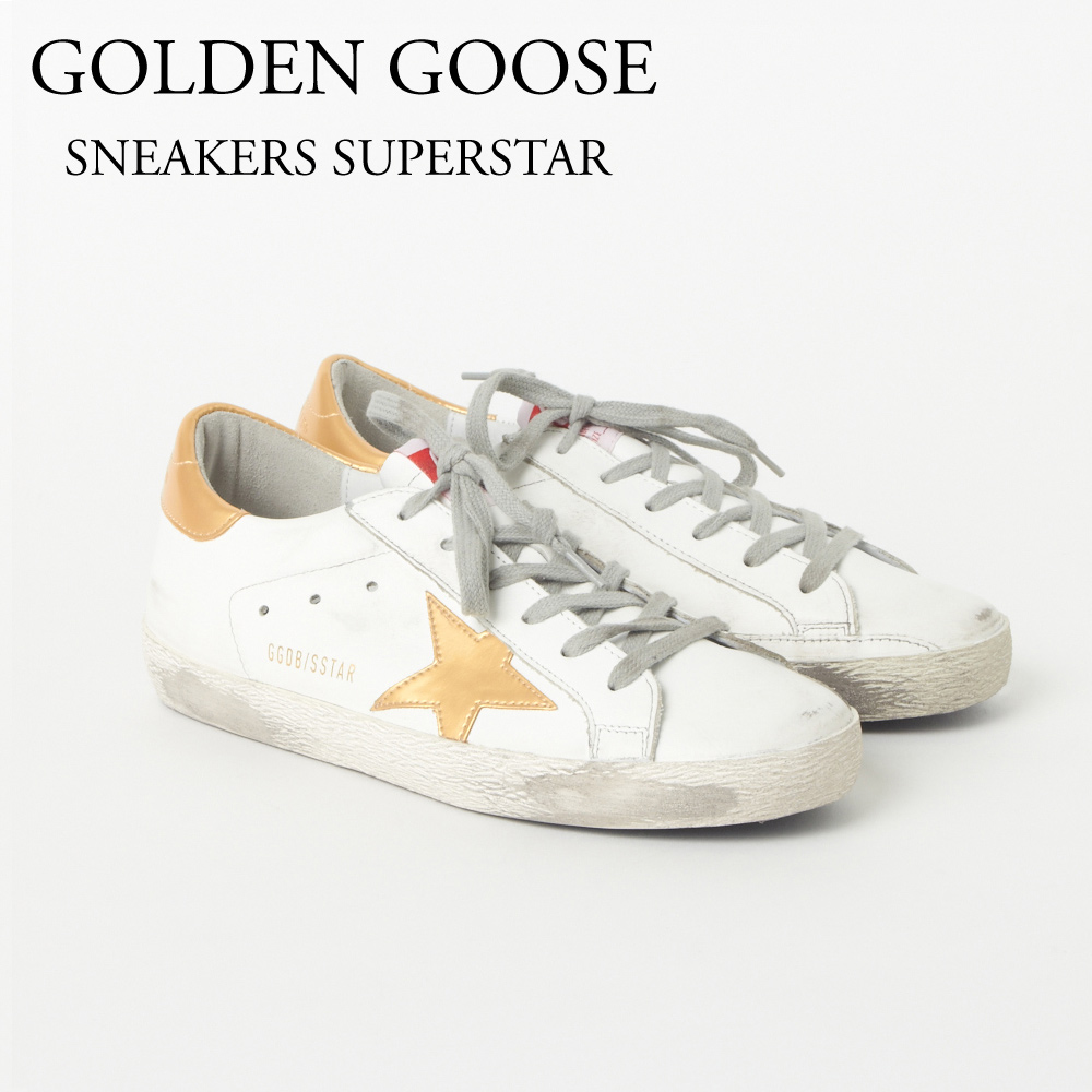 ゴールデングース GOLDEN GOOSE レディススニーカー D15G31WS590 SNEAKERS SUPERSTAR WHITE LEATHER/GOLD STAR