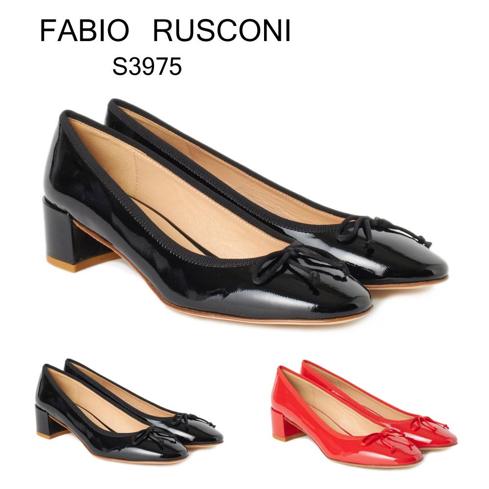 ファビオルスコーニ FABIO RUSCONI レディス パンプス S 3975 リボン選べるカラー 【fll】