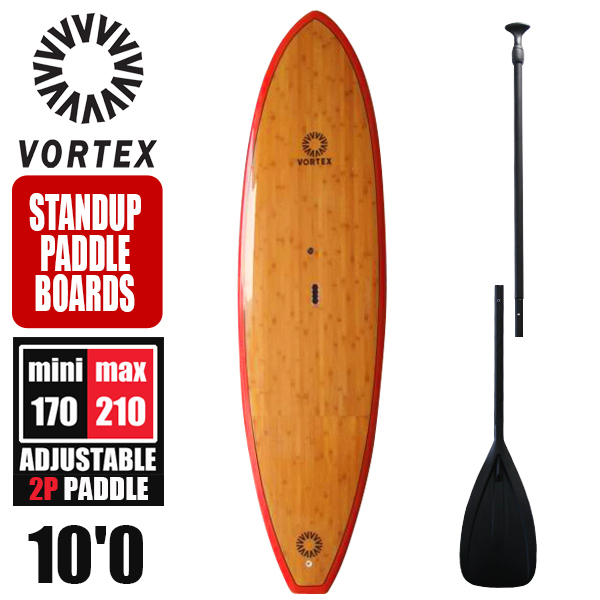 SUP パドル & デッキパッド セット スタンドアップパドルボード サップボード 10'0 ウッドライン VORTEX