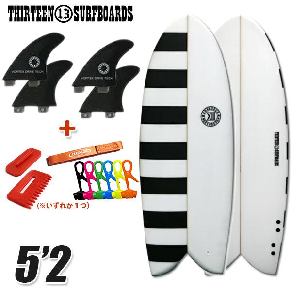 サーフボード ショート レトロフィッシュ 5'2 ボーダー ブラック フィン付属 サーフィン 13SURF