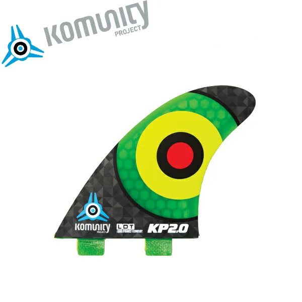 Komunity FCS フィン トライフィン KP2.0 FCS 3fin ダークグリーン エフシーエス サーフィン サーフボード 基本送料無料