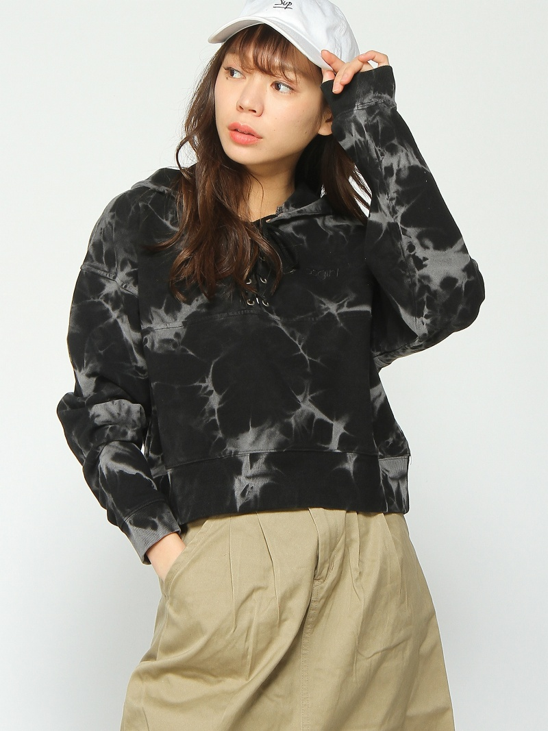 [Rakuten BRAND AVENUE]BLEACHED LACE UP SWT X-girl エックスガール カットソー【送料無料】
