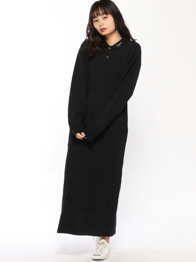 [Rakuten BRAND AVENUE]POLO L/S SHIRT DRESS エックスガール ワンピース【送料無料】