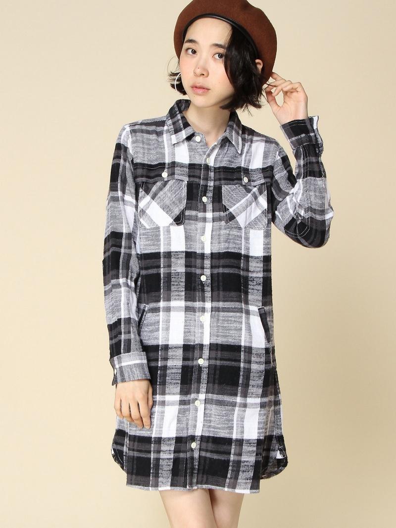 [Rakuten BRAND AVENUE]【SALE/15%OFF】NEP FLANNEL SHIRT DRESS X-girl エックスガール ワンピース【RBA_S】【RBA_E】【送料無料】