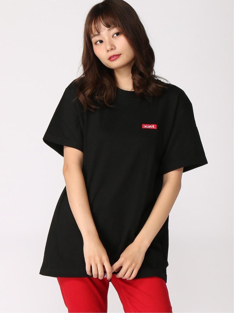 [Rakuten Fashion]FACE BIG S/S TEE X-girl エックスガール カットソー Tシャツ ブラック ホワイト【送料無料】