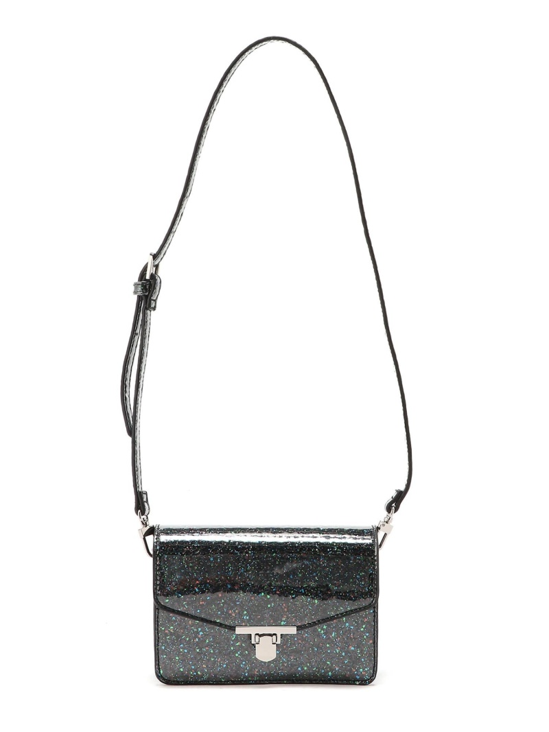[Rakuten Fashion]GLITTER MINI SHOULDER BAG X-girl エックスガール バッグ ショルダーバッグ ブラック ピンク ゴールド【送料無料】