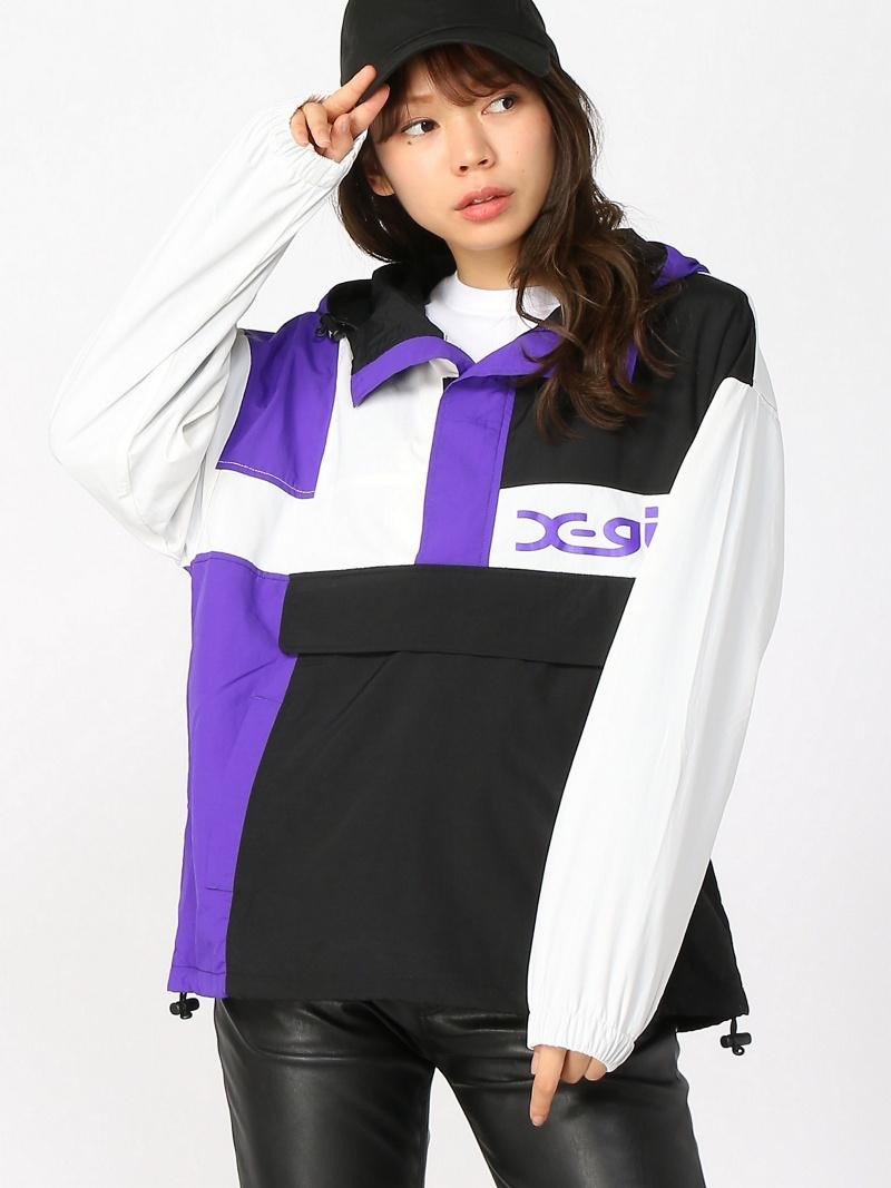 [Rakuten BRAND AVENUE]CRAZY COLOR ANORAK X-girl エックスガール コート/ジャケット【送料無料】