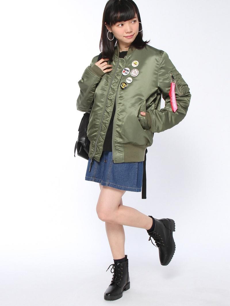 [Rakuten BRAND AVENUE]【SALE/30%OFF】X-girlxBURGER RECORDSxALPHA JACKET X-girl エックスガール コート/ジャケット【RBA_S】【RBA_E】【送料無料】