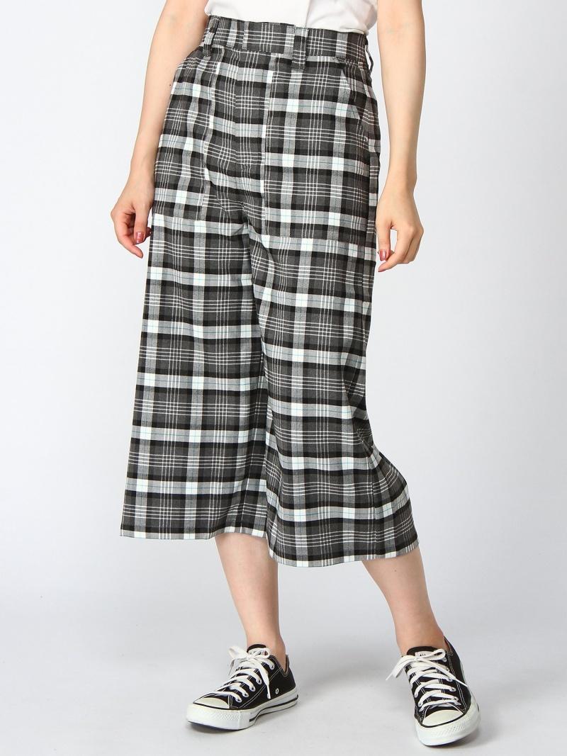 [Rakuten Fashion]PLAID PANTS X-girl エックスガール パンツ/ジーンズ ワイド/バギーパンツ ブラック パープル イエロー【送料無料】