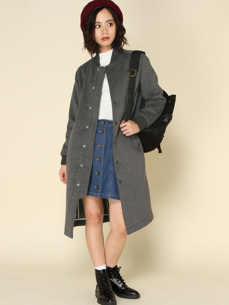 [Rakuten BRAND AVENUE]【SALE/30%OFF】SHAGGY LONG COAT X-girl エックスガール コート/ジャケット【RBA_S】【RBA_E】【送料無料】