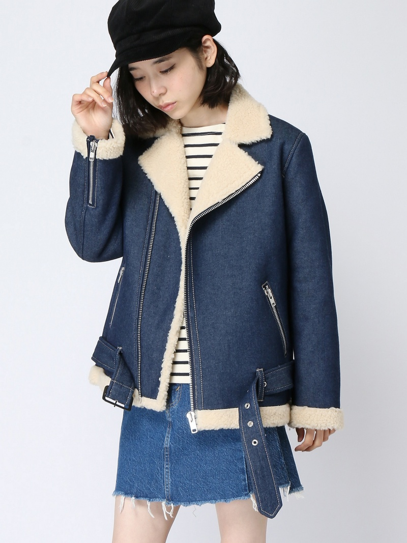 [Rakuten BRAND AVENUE]【SALE/49%OFF】FAUX SHEARLING RIDERS JACKET エックスガール コート/ジャケット【RBA_S】【RBA_E】【送料無料】