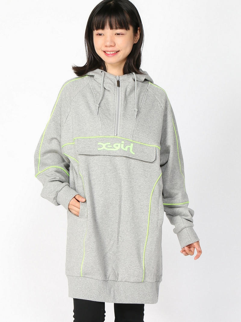 [Rakuten BRAND AVENUE]SWEAT ANORAK DRESS X-girl エックスガール カットソー【送料無料】