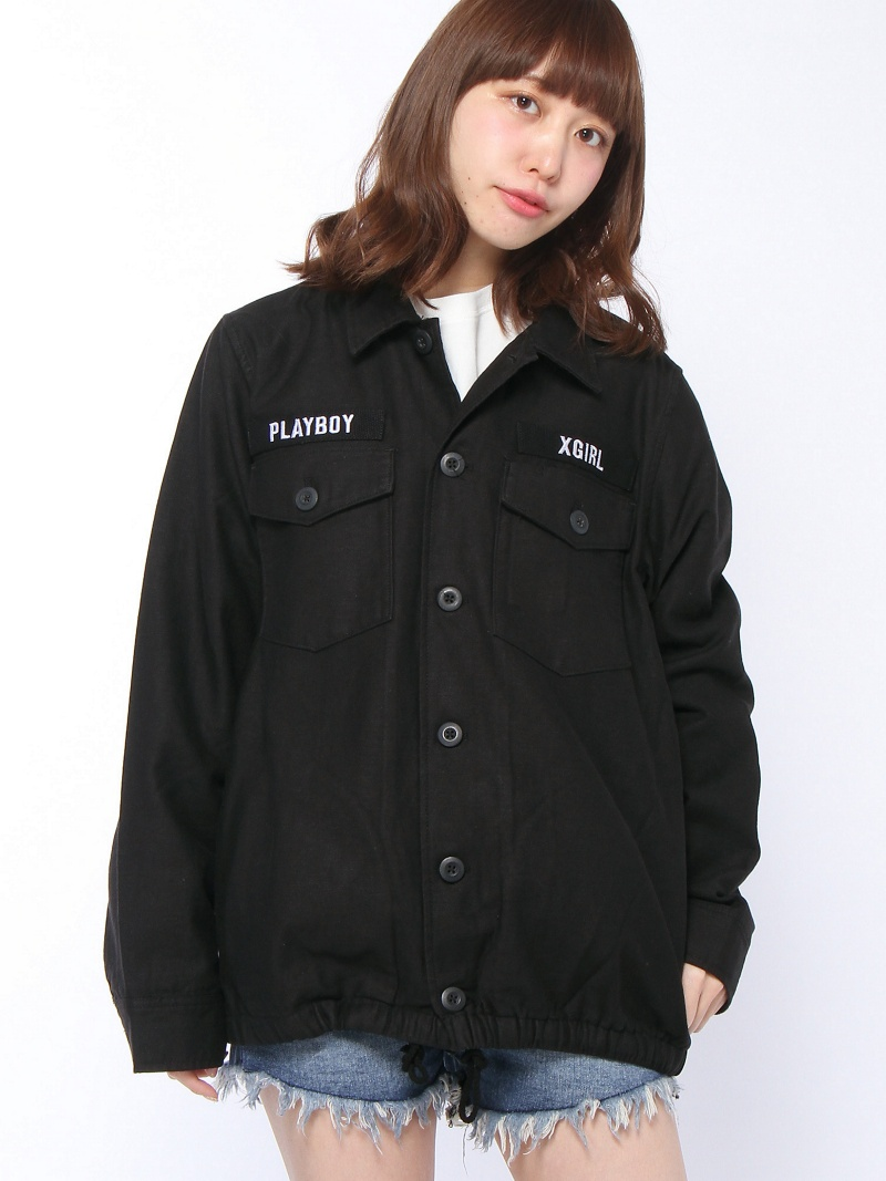 [Rakuten BRAND AVENUE]【SALE/35%OFF】X-girl x PLAY BOY BDU JACKET X-girl エックスガール コート/ジャケット【RBA_S】【RBA_E】【送料無料】