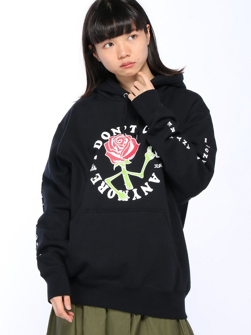 [Rakuten BRAND AVENUE]【SALE/20%OFF】X-girlxJUNGLES DONT CARE SWEAT HOODIE X-girl エックスガール カットソー【RBA_S】【RBA_E】【送料無料】