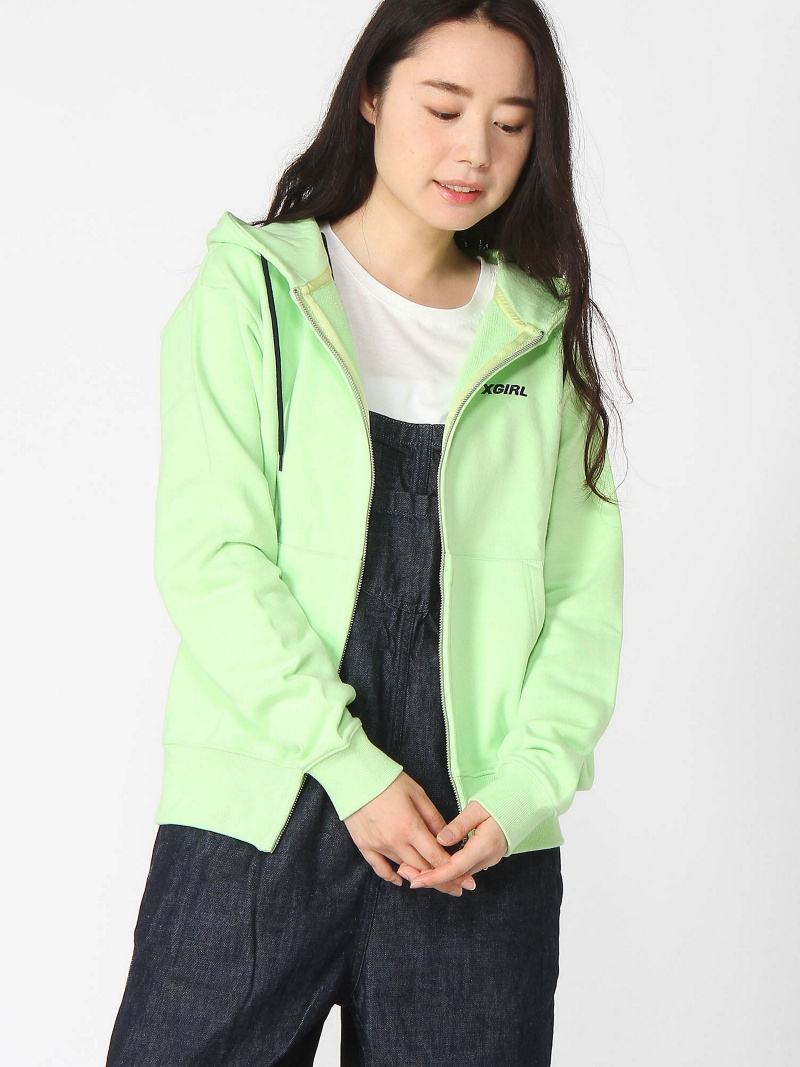 [Rakuten BRAND AVENUE]LOGO ZIP SWEAT HOODI X-girl エックスガール カットソー【送料無料】