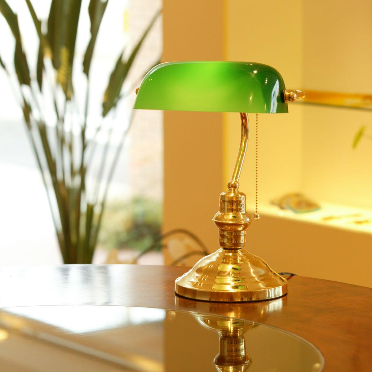 雰囲気のあるテーブルライトを楽しもうバンカーズライト3≪ゴールド≫