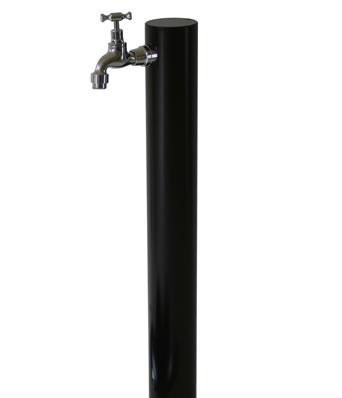 【送料無料】1口水栓柱 ウォーターポスト ブラック