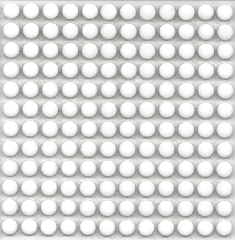 モザイクタイル 10mm 1cm 2020モデル 激安通販専門店 の小さな丸タイル10mm丸 ホワイト ゆうパケット可 シートタイプ10mm 12×12粒 144粒シート貼りサイズ:150mm×150mm×厚み4mm 6シートまでゆうパケット可能