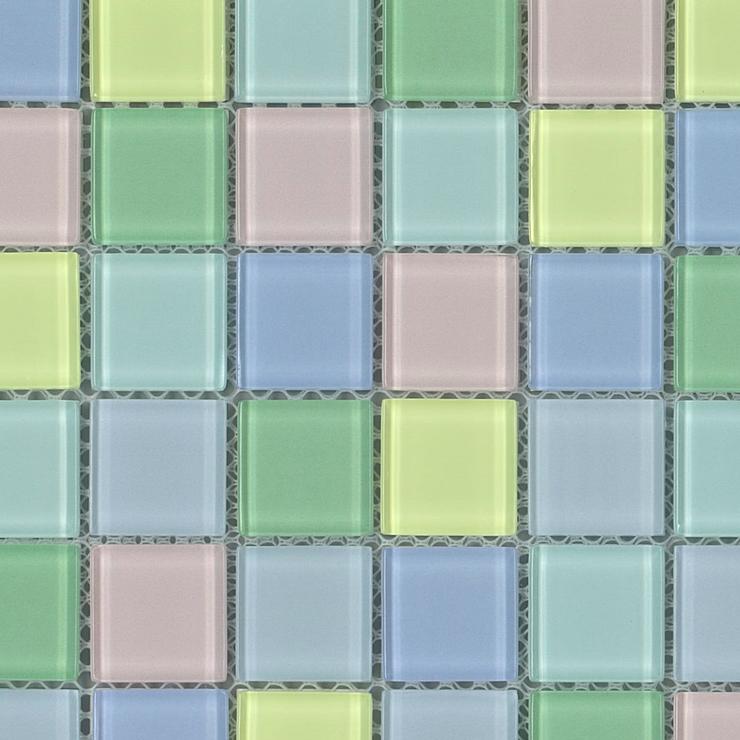 キララグラスモザイクタイル 25MIXガラスタイル ファッション通販 25mm角 贈り物 6×12粒 72粒シート貼り