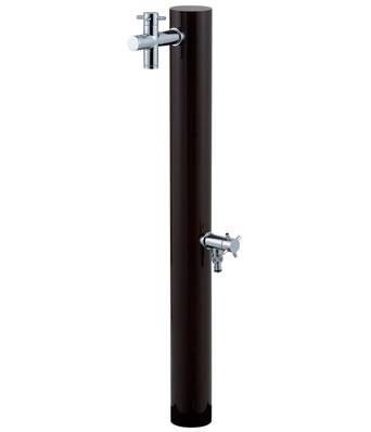 送料無料2口水栓柱 ウォーターポスト チョコ