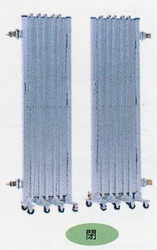 【】【送料無料】アルミゲート間口W6m高さ1.8m両開き