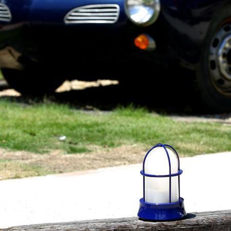 ガーデンライト 真鍮青色塗装仕上げ
