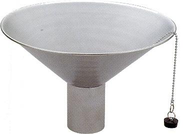 【送料無料】ステンレス製水鉢中鉢ヘアライン