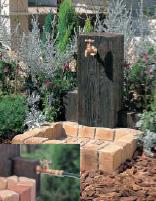 【代引不可】立水栓ユニット地中配管・補助蛇口仕様ウッドクリートタイプスクエアパン