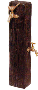 【送料無料】水遣りを楽しく♪ウォータービュー立水栓コテージポールL