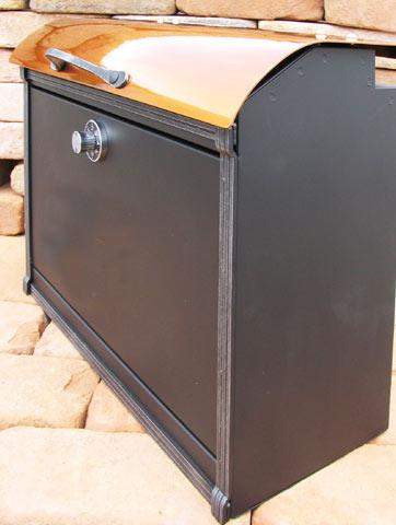 銅板のカバーがモダン和風を演出しますコパリッドポスト バッグタイプ上入れ前だしのメールボックスです【smtb-TK】