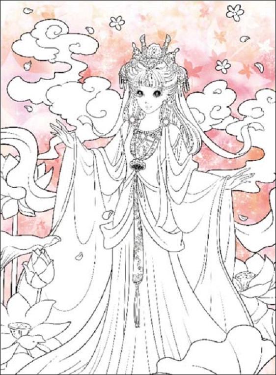 楽天市場古典王女 伝統的なお姫様 大人の塗り絵中国語中国の本屋