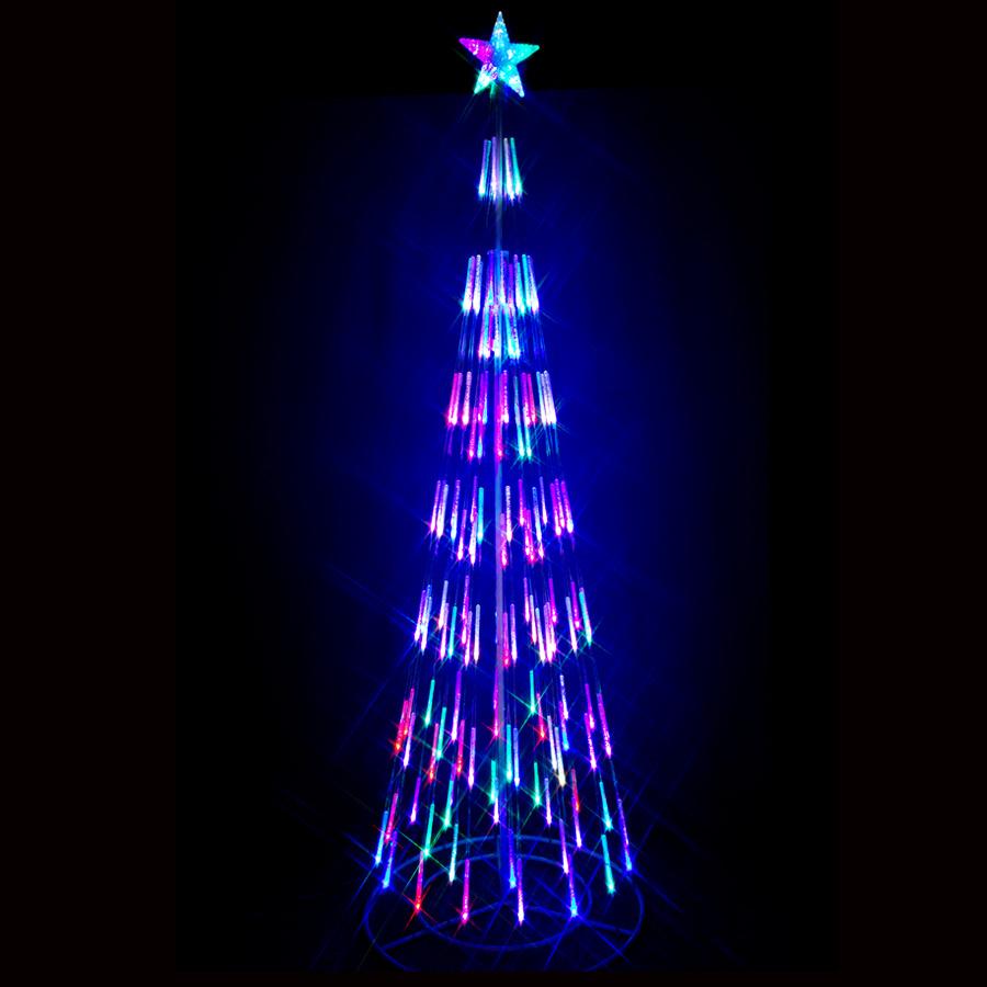 タワーツリー イルミネーション 210cm LEDライト店舗 ディスプレイ 【送料無料】 コーンツリー イルミネーション 2019【マルチ】【高輝度LED】【初心者向】
